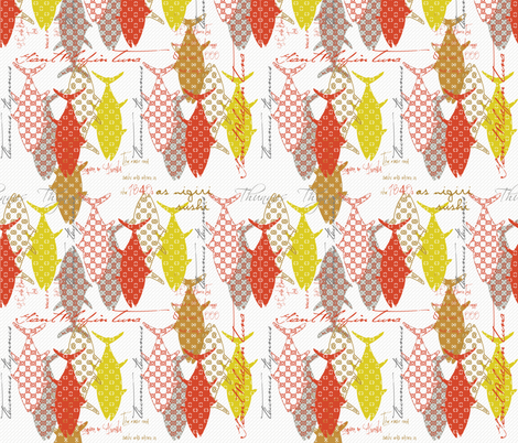 Tuna Sisters fabric by lulabelle on Spoonflower - custom fabric