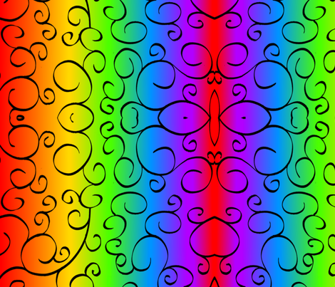 rainbow_swirl2 fabric by neetz on Spoonflower - custom fabric