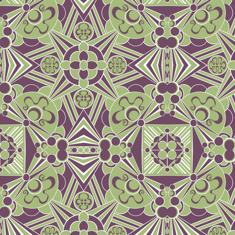 Geometric Kaleidoscope fabric by art_on_fabric on Spoonflower - custom fabric