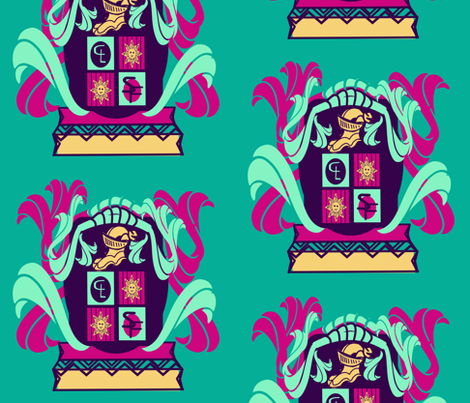 marzlene_Family Crest_coat of arms fabric by marzlene'z_eye_candy on Spoonflower - custom fabric