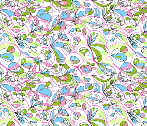 happy isborn fabric by blumenlimonade on Spoonflower - custom fabric