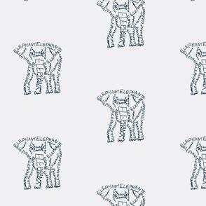 Elephant Calligram 2