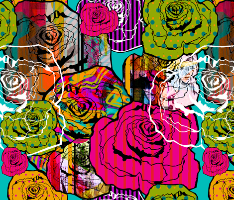 Roses fabric by aimeesthill on Spoonflower - custom fabric