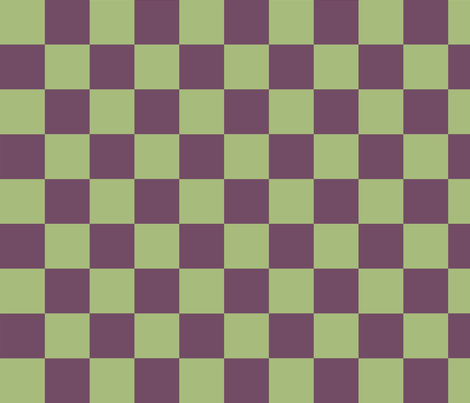 Pistachio and Grape Checkerboard fabric by pd_frasure on Spoonflower - custom fabric