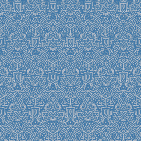 Ornate Blue Gray Geometric © Gingezel™ 2012 fabric by gingezel on Spoonflower - custom fabric