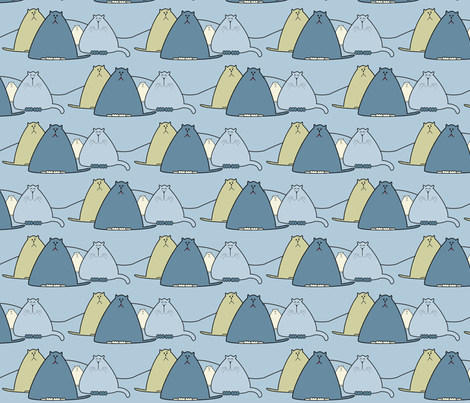 4Cats fabric by marcdoyle on Spoonflower - custom fabric