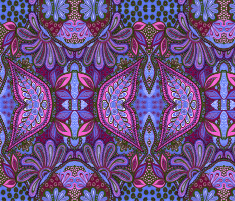 Berry Paisley fabric by joonmoon on Spoonflower - custom fabric