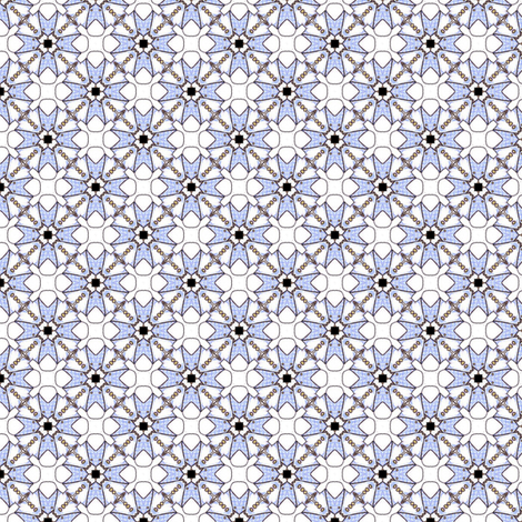Pearly White Squares fabric by siya on Spoonflower - custom fabric