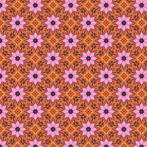 d'Assault Pink Flowers fabric by siya on Spoonflower - custom fabric