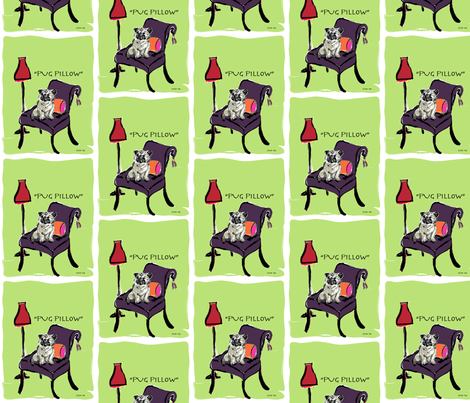PUG-PILLOW_D-11 fabric by cfishdesign on Spoonflower - custom fabric