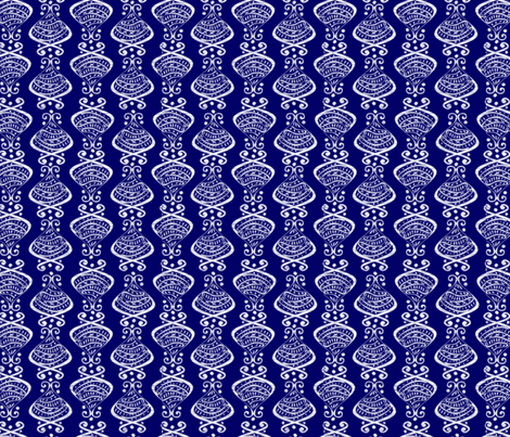 Hallmarks - Deep Blue Sea fabric by glimmericks on Spoonflower - custom fabric