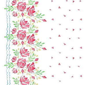 A Modish blushing rose border (if image doesn't appear, click on yard then smaller sizes)