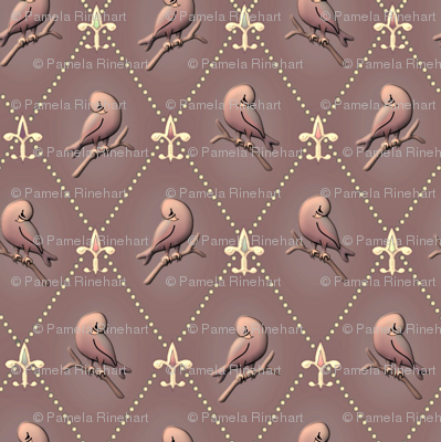 ©2012 Purple Finch and Fleur de Lis - Cocoa