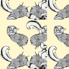 Pheasant Hunting Rococo Pattern