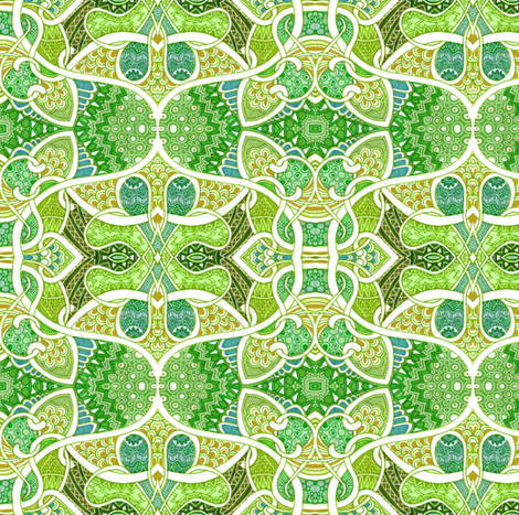 Drives Me Batty Calico fabric by edsel2084 on Spoonflower - custom fabric