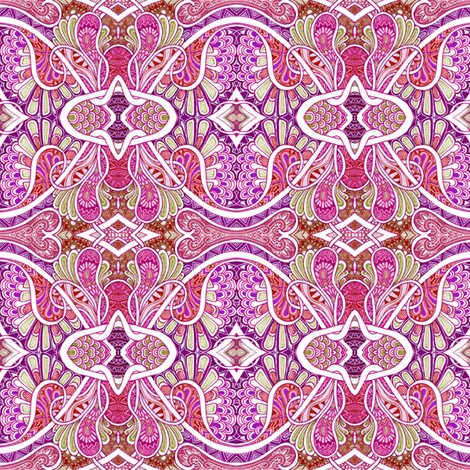 Paisley is my Favorite Drug (red/magenta) fabric by edsel2084 on Spoonflower - custom fabric