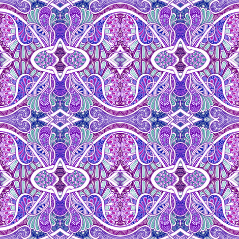 Paisley is my Favorite Drug (purple) fabric by edsel2084 on Spoonflower - custom fabric