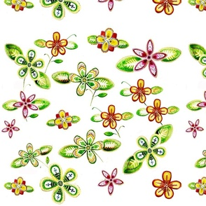 Beaded_Floral_Printed_Fabric