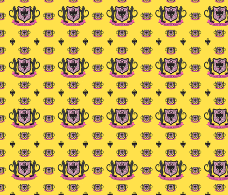 House of Kitties in the Sunshine fabric by lovekittypink on Spoonflower - custom fabric