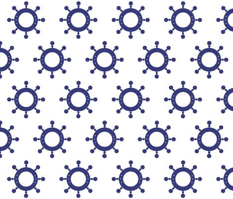 SHIP WHEELS fabric by bluevelvet on Spoonflower - custom fabric