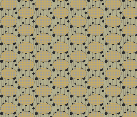 Extinction in Linen Ovals fabric by glanoramay on Spoonflower - custom fabric