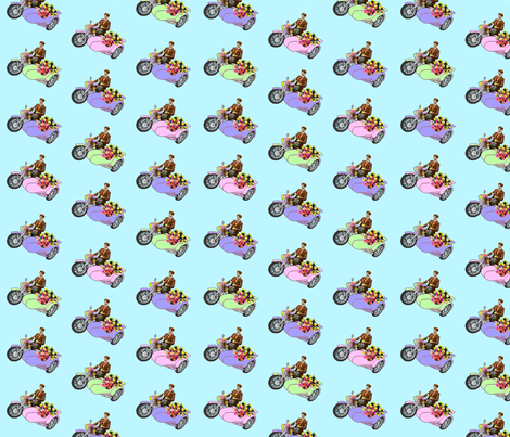 Archie's Little Motorbike fabric by lovekittypink on Spoonflower - custom fabric