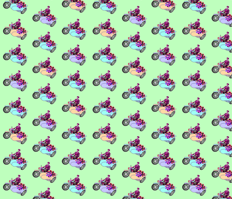 Archie's Bright Little Motorbike fabric by lovekittypink on Spoonflower - custom fabric