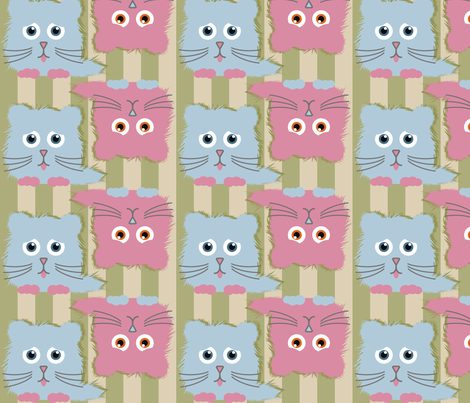 Kandy Kitties fabric by dogsndubs on Spoonflower - custom fabric