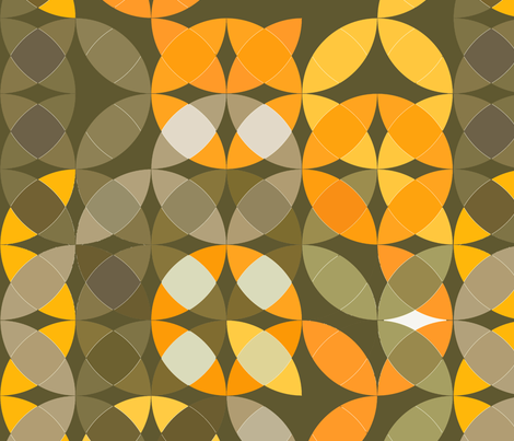 gray yellow and orange circles fabric by zula on Spoonflower - custom fabric