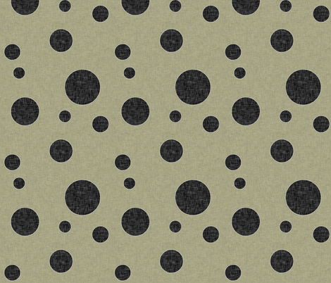 Extinction in Linen Polka Large fabric by glanoramay on Spoonflower - custom fabric