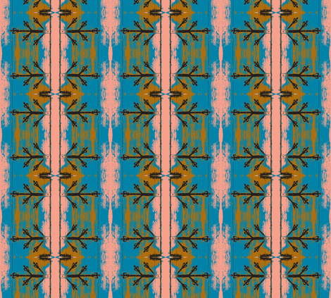 Unhinged and Blue fabric by susaninparis on Spoonflower - custom fabric