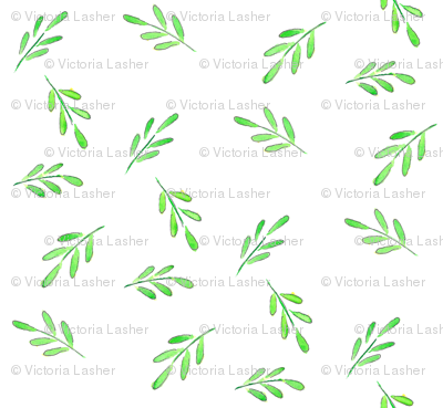 Modish blushing rose coordinate - fern leaf scatter