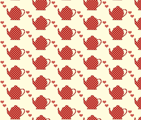 Tea for Two fabric by anikabee on Spoonflower - custom fabric