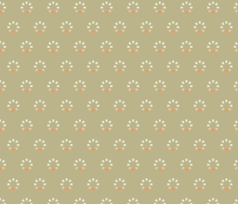 FAMILY TREES in Beige and Coral fabric by hitomikimura on Spoonflower - custom fabric