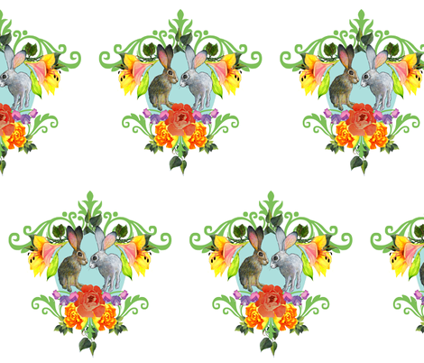 Crest of Rabbits fabric by golders on Spoonflower - custom fabric