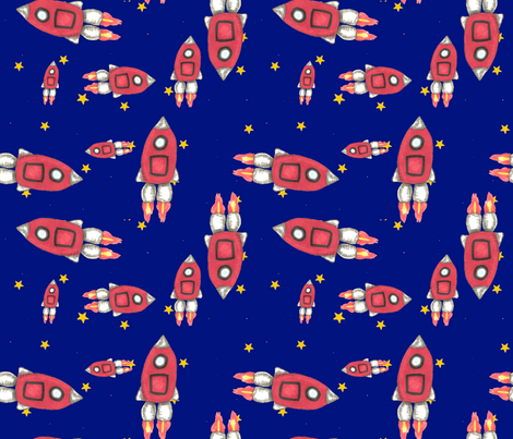 Red Rockets fabric by neetz on Spoonflower - custom fabric