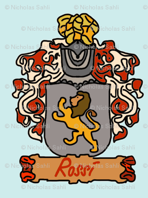 A Rossi Family Crest