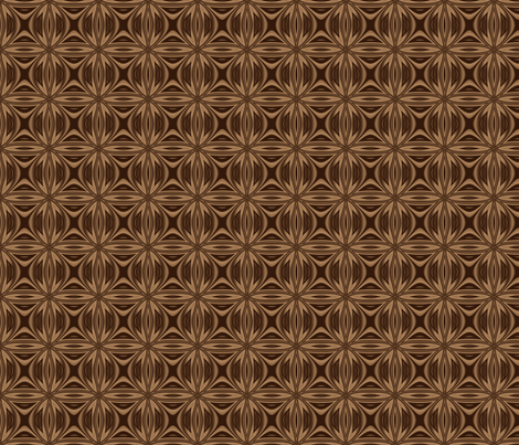 Intricate Brown Lattice © Gingezel™ 2012 fabric by gingezel on Spoonflower - custom fabric