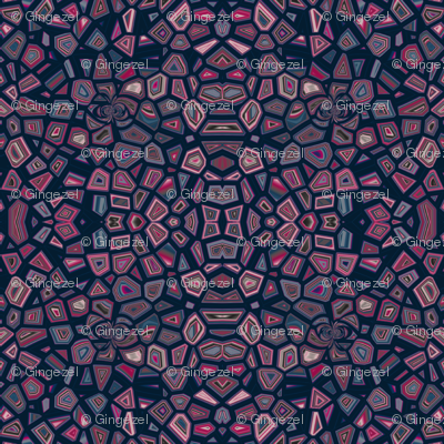 Navy and Red Mosaic © Gingezel™ 2012