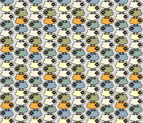 Balancing Sheep fabric by sterikal on Spoonflower - custom fabric