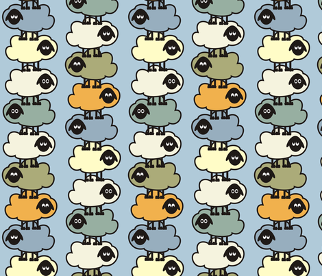 Balancing Sheep fabric by dogsndubs on Spoonflower - custom fabric