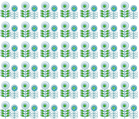 Retro Flowers fabric by scorpiusblue on Spoonflower - custom fabric