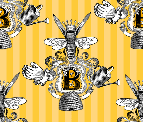 BZB crest fabric by bzbdesigner on Spoonflower - custom fabric