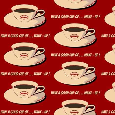 Cup of wake-up fabric by paragonstudios on Spoonflower - custom fabric