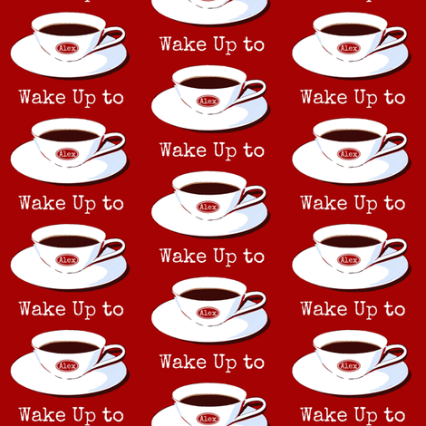 Wake Up to Alex fabric by paragonstudios on Spoonflower - custom fabric