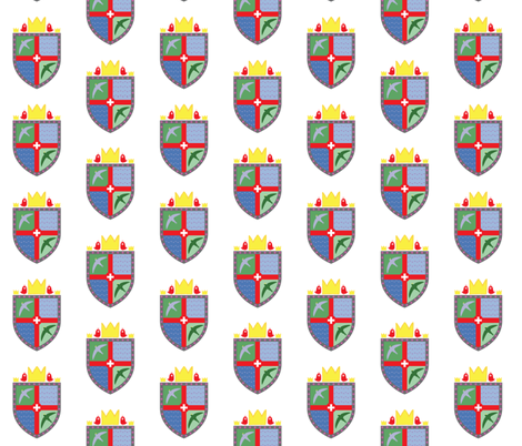 hugo's family crest fabric by hugo_lamarox on Spoonflower - custom fabric