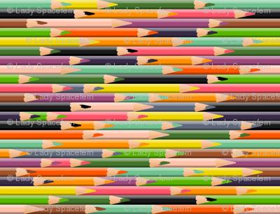 Colored Pencils Warm