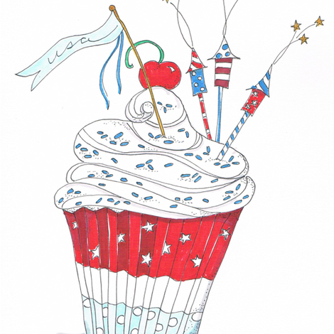 usa cupcake fabric by cbronsky on Spoonflower - custom fabric