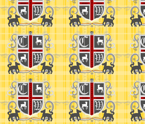 coatofarmscw fabric by ninjaauntsdesigns on Spoonflower - custom fabric