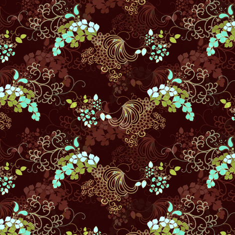 Elegance in Chocolate fabric by joanmclemore on Spoonflower - custom fabric